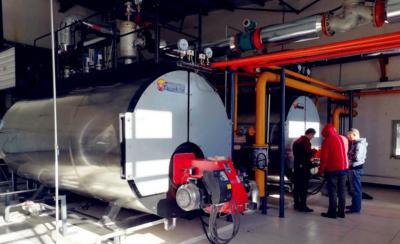 锅炉设备调试现场